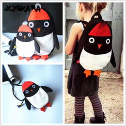 JCYOKARA Girls Boys Cute Penguin Backpack Can Match Same Mini Penguin  Crossbody Bag JC KIDS Canvas Animal Backpack For Kids Girl 9abf473a5e271