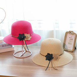 Sun hat holidayS online shopping - Two Small Flowers Beach Hat Sunshade Sunscreen Big Eaves Cortex Female Seaside Holiday Designer Hats Tide Cap hb cc
