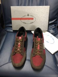 Spring Tying Australia - Brand 18ss Shoe Cloudbust P Causal Shoe Magic Tie Slip On Spring New White Brown Black Men Shoe 38-44 130334