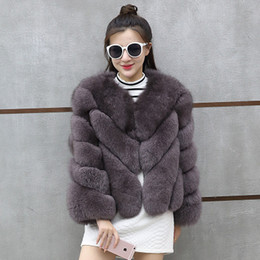 fox fur feather Australia - 2018 new leather fox fur coat female short coat Korean version of slim slimming large size women's clothing