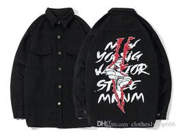 Product Brand Color Australia - 2018 high street fashion brand, men's jacket, male autumn new products, hip hop men, pockets, sports, men's denim jacket.