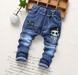 d6a75663699 2018 Spring Fashion Denim Kids Jeans Baby Boy Trousers Autumn embroidery  Cartoon Pattern Denim Jeans Children Pants 2-6Y
