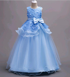 Girls dress 16 years online shopping - Children Costumes Long Style Lace Flower Girls Dresses Layers Korean Party Wear for years old kids