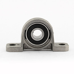 Bear Block UK - WALFRONT 10mm Zinc Alloy Mounted Bearing Pillow Block Housing Bearings Insert Metal Ball Shaft Support Spherical Roller KP000