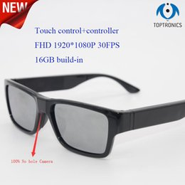 $enCountryForm.capitalKeyWord NZ - 2018 New no hole 1080P Camera Smart Glasses with 16GB Touch Shutter Control +Controller Mini Camera Mini DV Camcorder DVR Video