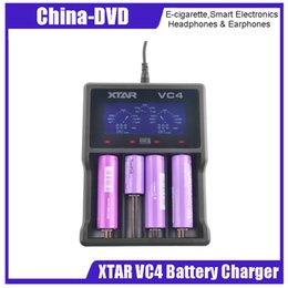 Battery Slot NZ - Authentic Xtar VC4 battery charger 4 slot LCD screen and Temperature Monitoring System charger fit Ni-MH and Li-ion batteries