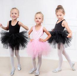 designer brand knee length dresses 2019 - Girls TUTU Dresses Gauze Princess Dress Kids Performance Dress Ballet Skirt Costume Baby Designer Wedding Clothing 2-9T