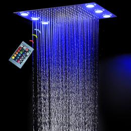$enCountryForm.capitalKeyWord NZ - Modern Ceiling Concealed Rain Shower Head Electric LED Shower Panel 360 x 500 mm   remote contriol multi-color change