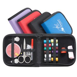 $enCountryForm.capitalKeyWord UK - Portable mini traveling sewing kits bag with color needle threads scissor pin sewing set outdoor household sewing tools