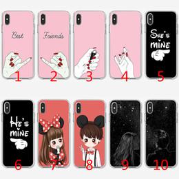 3984357b7a9 Funda TPU de silicona suave de Best Friends couple para iPhone X XS Max XR  8 7 Plus 6 6s Plus 5 5s SE Funda