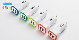 Car Lights Australia - Square rocket car charger two USB quick charge vehicle-mounted mobile charger LED lights for iphoneXS X 8 7 6s 6 Plus htc samsung 500pcs lot