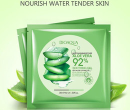 natural acne skin care NZ - BIOAQUA Natural Aloe Vera Gel Face Mask Moisturizing Oil Control Wrapped Mask Shrink Pores Facial Mask Cosmetic Skin Care