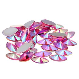$enCountryForm.capitalKeyWord UK - 2000pcs 7x15mm AB Colors Marquise Pointed Acrylic FlatbackRhinestones For Nails Crystal Nail Art 3D Jewelry Charms Decorations