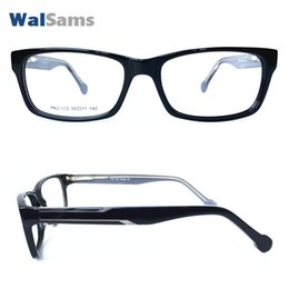 Wholesale Rectangle Classic Plastic Eyeglasses Frame with Case Clear Lens Flexible Arm Handmade can change Reader Prescription Lens PK2