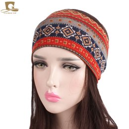 Head Band Boho Australia - New women Soft Wide Headband Boho bohemian Head Wrap yoga sport hair band