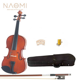 Bow rosin online shopping - Acoustic Violin Violin Natural Maple Wood Acoustic Violin Case Rosin Bow For Students Beginners New