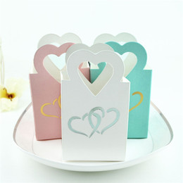 $enCountryForm.capitalKeyWord UK - 100PCS multicolour love hollow Paper Boxes Candy Box Wedding Favors Gift Sweet Favour Holder Party Birthday Baby Shower Supply