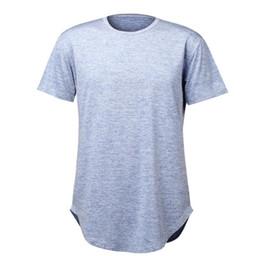 $enCountryForm.capitalKeyWord Canada - Male T-shirt Curve Hem Solid New Fashion Tops Hip Hop Short Sleeve T-shirt 4 Colors Tide Tee Men's Long T-shirts