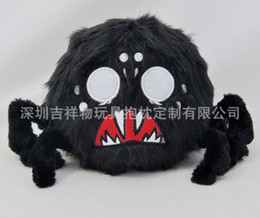 wholesale doll houses NZ - Large Black Spider Plush Toy for Halloween Party Scary Decoration Haunted House Prop Indoor Outdoor Yard Garden Decor