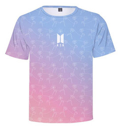 52b6689937cc Korean KPOP BTS Bangtan Boys Love Yourself 2018 Hot Women and Men Casual 3D  Printed Round Neck T-Shirt Hip-Hop Clothing plus size 4XL