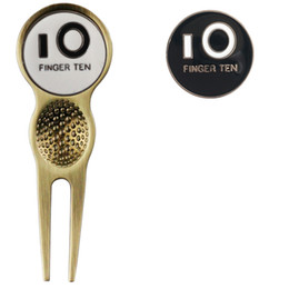 $enCountryForm.capitalKeyWord NZ - Finger Ten Golf Divot Tool With Two Ball Marker Silver Gold Colors Putting Green Value Pack Set Golf Repair Tool Free Shipping