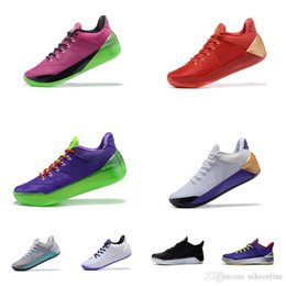 236c3a46edcc Cheap women kobe ad 12 basketball shoes Black White Purple Team Red Gold  Grey Boys Girls Youth kids KB XII elite outdoor sneakers for sale