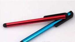 Ingrosso Penna capacitiva del touch screen della penna dello stilo per il telefono del ipad / iPhone Samsung / PC del ridurre in pani DHL libera il trasporto