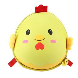 $enCountryForm.capitalKeyWord Australia - Cute Chicks Shape Hard Shells Kids Backpack Kindergarten Primary Children School Bag 3D Waterproof Cartoon Eggshell Bags