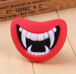 Cartoon Make Toys NZ - Free Shipping New Durable Safe Funny Squeak Dog Toys Devil's Lip Sound Dog Playing Chewing Puppy Make The Dog Happy