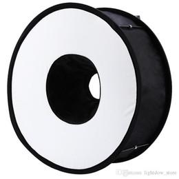 Lightdow 45cm Foldable Ring Speedlite Flash Diffuser Macro Shoot Round Softbox for Canon Nikon Sony Pentax Godox Speedlight on Sale