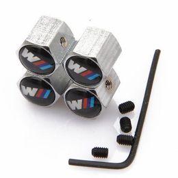 $enCountryForm.capitalKeyWord Australia - Stainless Steel 4PCS Car Wheel Tire Valves Tyre Stem Air Caps Airtight Cover For BMW