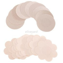 Sexy Nipple Patch UK - Sexy Nipple Cover Pads Round flower-shaped Intimates Nipple Covers Pads Patches Self Adhesive Disposable Wholesale