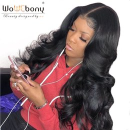 16 inch body wave wig 2019 - WoWEbony 6 Inches Deep Part 360 Lace Frontal Wig Indian Remy Hair Classic Body Wave Human Hair Wig Pre-plucked Hairline