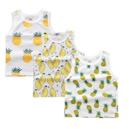 $enCountryForm.capitalKeyWord Canada - 2018 New Arrival 3pcs Children Summer Vest Baby Kids Vest Boys Girls Fashion Printed T -Shirts Tees Toddlers Clothing Rw -120