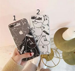 moomin case 2019 - Moomin silicon case soft cartoon cell phone back cover for iPhone 8 7 6 6S Plus X clear TPU rubber case