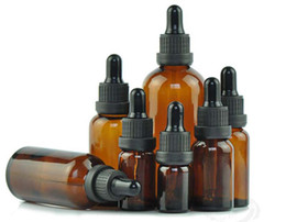 Discount eye care drops - Reagent Eye Dropper Drop Amber Transparent Glass Aromatherapy Liquid Pipette Bottle Refillable Bottles 5-100ml Amber Tra