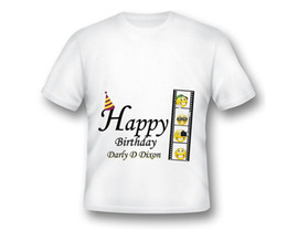 2018 New Summer Men Hot Sale Fashion Custom Movie Emoji Birthday T Shirt Film Printed Customized