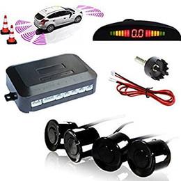 Altamente Sensível Aviso de Segurança Buzzer Car Reverso Sistema de Radar com 4 Sensores de Estacionamento Ultrasônico Display LED para Universal Auto venda por atacado