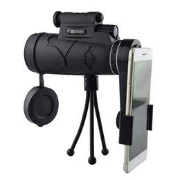 mobile phone zoom lens 2019 - 12x Zoom Telescope for Mobile Phone Camera Lens Light Night Vision Waterproof Monocular Telescope With Trfor Camping Hik