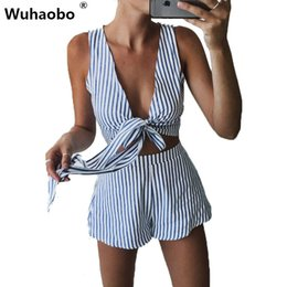 $enCountryForm.capitalKeyWord Australia - Wuhaobo 2018 New Rompers Women Stripe Jumpsuit Elegant Short Overalls Jumpsuit Female Summer Playsuit High Quality Beach Romper