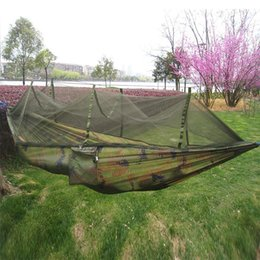 discount camping hammocks mosquito   camouflage outdoor camping   hammock single person hamac 260x140cm backpacking hanging discount camping hammocks mosquito     2018 camping hammocks      rh   dhgate