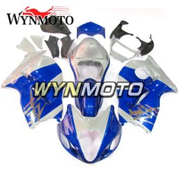 China Complete Fairings For Suzuki GSXR1300 Hayabusa 1997-2007 Injection ABS Plastic Body Kit Motorcycle Fairing Cover Blue Silver cheap plastics kits for hayabusa suppliers
