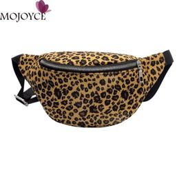 Wholesale Pillow Packs Australia - Women Men Waist Bag Leopard Bag Fanny Pack Money Waist Pouch Travel Canvas Belt Holiday Wallet Chest Unisex 2018 New