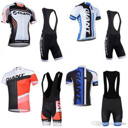 Discount giant bicycle team jersey - GIANT team Cycling Short Sleeves jersey (bib) shorts sets men Bicycle Clothing gel Bib shorts Sportwear c2414