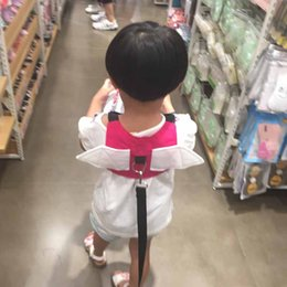 Learning For Infants NZ - Safety Toddler Harness Breathable Backpack Walking Wings for Baby Infant Walk Learning Assistant Adjustable Strap Harness for Kids Chiild
