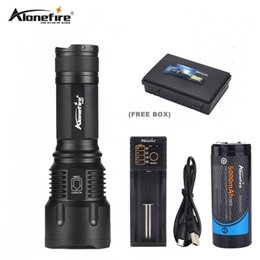 cree bicycle NZ - AloneFire X980 Cree xml-t6 powerful Led flashlight 26650 battery zoom Led torch flash light hunting lanterna camping bicycle