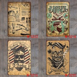 Wholesale Retro Barber Vintage Retro Metal Iron Painting Signs Poster Plaque Bar Pub Club Wall Vintage Home Decor Plaque cm Y18102409