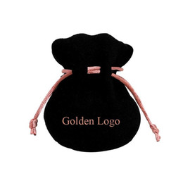$enCountryForm.capitalKeyWord UK - Pink Ribbon Black Velvet Bags Fit European Pandora Style Beads Charms and Bracelets Necklaces Jewelry Fashion Pendant Pouches
