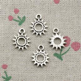 $enCountryForm.capitalKeyWord Australia - 186pcs Charms sun steampunk gear 12*15mm Tibetan Silver Vintage Pendants For Jewelry Making DIY Bracelet Necklace