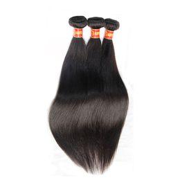 Russian Hair 22 Canada - Russian Virgin Hair Straight 3Pcs Lot Russian Silky Straight Human Hair Weave Bundles Cheap Russian Remy Hair Extentions Natural Black 1B